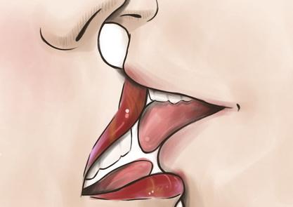 Как правильно целоваться с языком