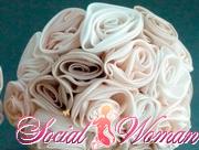 сделать цветы из ткани